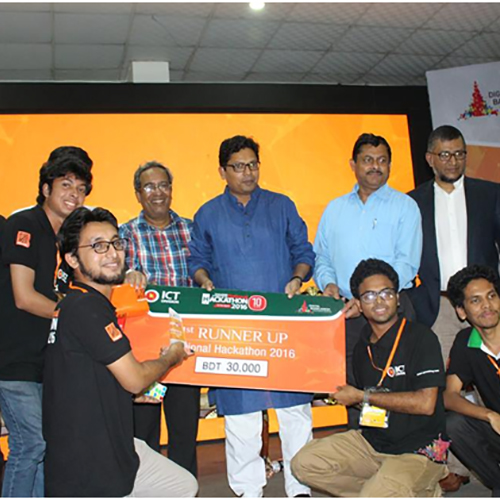 DIIT achieved position of the 1st runner up at National Hackathon 2016