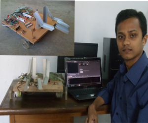 Saidur With His Robot