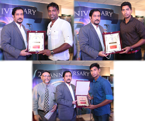Warm reception to famous cricketers