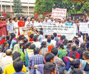 Medical admission agitation continues