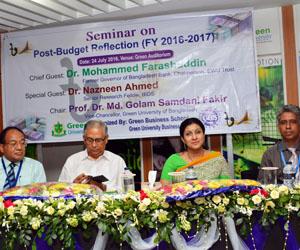 GUB organizes Seminar on Budget