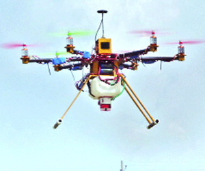 Agro-based drone flies at KU