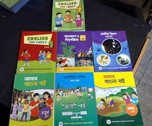 Primary books arrive from India