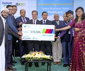 DIU students won 2nd prize